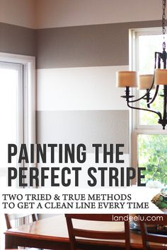 How to Paint the Perfect Stripe | landeelu.com  TWO tried and true ways to get that perfect, clean line every time! DIY Tutorial