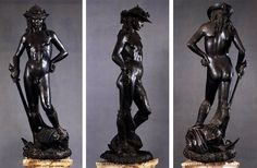 DONATELLO  David  1430s  Bronze, height 158 cm  Museo Nazionale del Bargello, Florence