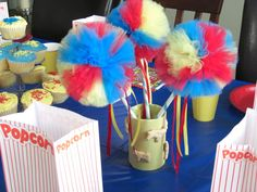 Carnival Poof Wand-- Birthday Parties, Dress Up, Party Favors.. $9.75, via Etsy.