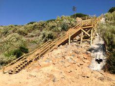 Escaleras en playa Palos de la Frontera #escalera #playa #huelva #madera