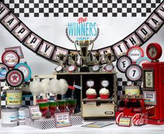 Race Car Party Vintage Race Car Party by CutiePuttiPaperie