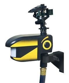 Scarecrow Water Spraying Animal Repeller by Contech. $59.02. 35 ft. range for flexiibilty in placement. Harmless blast of water deters even stubborn pests. Simple to use - connects to a garden hose. Spray head adjustable from 10°- 360°, to cover the whole yard, or just a small area. Humane method of repelling animals - motion sensor sprays water when it detects an intruder. Are unwanted animal destroying all the hard work you've put into your garden?  From rabbits to...
