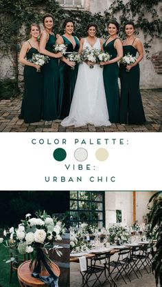 Hunter Green Wedding Colors for Modern Fall Wedding Is your wedding style urban chic? Check out this gorgeous dark green wedding inspiration for a fall wedding! Shop the lo. fall wedding Hunter Green Wedding Colors for Modern Fall Wedding Green Fall Weddings, Emerald Green Weddings, Fall Wedding Colors, Hunter Green Weddings, Forest Green Weddings, Emerald Green Dresses, Fall Wedding Gowns, Fall Wedding Bridesmaids, Wedding Styles