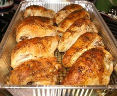 """Pinner says """"This is one of the BEST roasted chicken recipes EVER! This is my family's favorite!"""""""