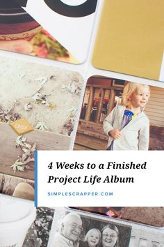 How I Finished a Year of Project Life in a Month - Simple Scrapper Simple Scrapbooking Layouts, Photo Album Scrapbooking, Pocket Scrapbooking, Scrapbook Albums, Scrapbook Layouts, Project Life Scrapbook, Project Life Album, Project Life Cards, Friend Scrapbook