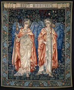 """""""The figures for this tapestry,"""" the Victoria and Albert Museum tells us, """"were originally drawn in by Edward Burne-Jones for stained-glass lancet windows in the south choir of Salisbury Cathedral, which were made in the Morris & Co. Victoria And Albert Museum, Textile Prints, Art Prints, Textiles, John Everett Millais, Edward Burne Jones, Art Fund, Google Art Project, Latest Wallpapers"""