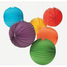 Super INEXPENSIVE Solid Color Rainbow Paper Lanterns | 6ct From Kara's Party Shop! Tons more colors available, too! KarasPartyIdeas.com/Shop