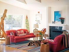 Ideas para decorar tu casa con estilo bohemio- living  basado en la cultura árabe y gitana, que suele ser elegido por las personas de espíritu libre, apasionado y creativo.