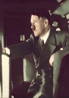 Adolf Hitler aboard a plane