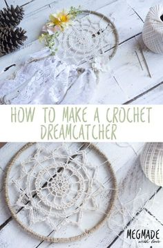 24 Beautiful Photo of Crochet Dreamcatchers Patterns . Crochet Dreamcatchers Patterns Crochet Dreamy Dreamcatcher Pattern Red Heart Patterns From Crochet Home, Crochet Gifts, Easy Crochet, Diy Crochet Doilies, Crochet Dreamcatcher Pattern Free, Crochet Patterns, Crochet Stitches, Dream Catcher Patterns, Dream Catcher Crochet Pattern