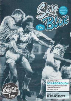 23 September 1992 v Scarborough FL Cup Round 2 Leg 1 Won 2-0
