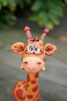Giraffe Polymer Clay Sculpture by mirandascritters on Etsy, $30.00