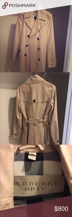 NWOT Burberry Brit trench coat Classic Burberry trench, I wish I could keep it but it's never fit me quite right. Burberry Jackets & Coats Trench Coats