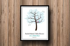 Boy Owl Baby Shower Tree Guest Book Signing by PaperPapelShop, $12.00