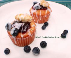 What's Cookin' Italian Style Cuisine: Raspberry and Blueberry Frosted Cupcakes for Memorial Day Recipe