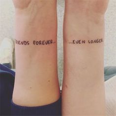 friends forever bff tattoo