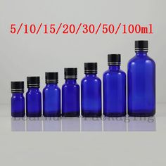 3de8a44c2ce 50ml 100ml For Blue Essential oil Bottle Cosmetic Packaging Refillable  Glass oil Bottle Essential oil Glass