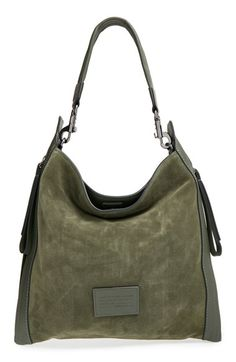 MARC+BY+MARC+JACOBS+'Zip+That'+Suede+&+Leather+Hobo+available+at+#Nordstrom
