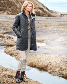 Modern Quilted Car Coat