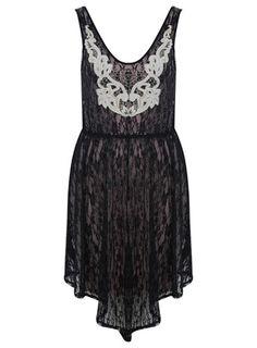 Lace Applique Stud Dress