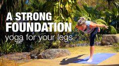 37 Minutes: A Strong Foundation: Yoga for your Legs Class - Five Parks Yoga Yoga Flow, Yoga Meditation, Kundalini Yoga Poses, Become A Yoga Instructor, Yoga For You, Yoga Youtube, Yoga World, Yoga Breathing, Parks