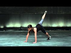 Lea Michele's Downward Dog  Leg Lift to Knee Tuck