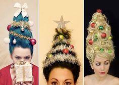 Insta-challenge: прическа в виде новогодней елки