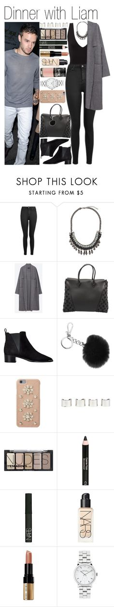 """""""• Dinner with Liam"""" by dianasf ❤ liked on Polyvore featuring Payne, Topshop, Zara, Louis Vuitton, Acne Studios, Michael Kors, MICHAEL Michael Kors, Maison Margiela, H&M and Clarins"""