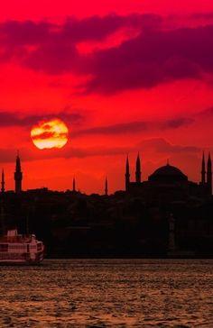 Awesome sunset - Istanbul