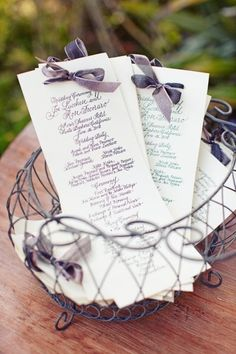 Possible DIY ceremony program.
