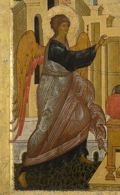 Iconostas Rusia sec. Byzantine Icons, Byzantine Art, Angels Among Us, Angels And Demons, Religious Icons, Religious Art, Medieval Paintings, Best Icons, Art Icon