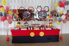 petite parti: Festa Mickey e Minnie - 3 anos dos primos Joshua e Manoela
