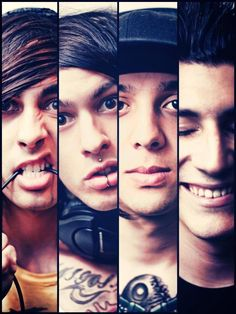 Vic Fuentes, Mike Fuentes, Tony Perry, Jaime Preciado (Pierce The Veil)