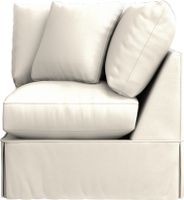 Willow Corner Chair shown in Kingston, Snow  36 x 36
