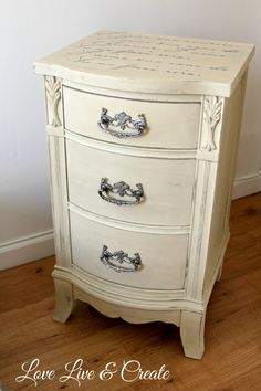 Hometalk :: Cute Old Furniture Transformed Into Romantic Shabby Chic Nightstand
