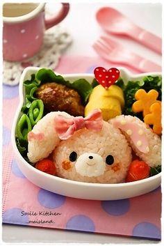 So Kawaii and Creative Food. Cute Bento Boxes, Bento Box Lunch, Kawaii Cooking, Bento Kids, Kawaii Bento, Food Art For Kids, Bento Recipes, Food Decoration, Food Humor