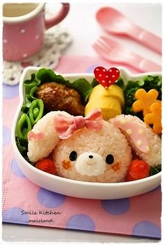 bento www.meditationinspires.com #bento #bentobox #food #funnyfood #japanese lunch