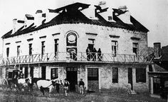 The Braidwood Hotel formerly the Commercial Hotel in 1868.