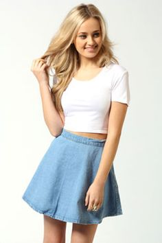 Sadie Circle Denim Skirt