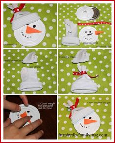 juice lid snowman