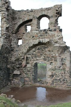 Ruins of St Anthony's Chapel on Arthur's Seat, Edinburgh, Scotland