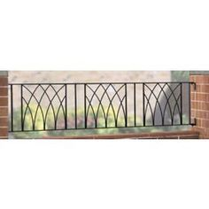 Tesco direct: Wrought Iron Style Modern Metal Railing Fence Panels, 3 pack, 183x39cm
