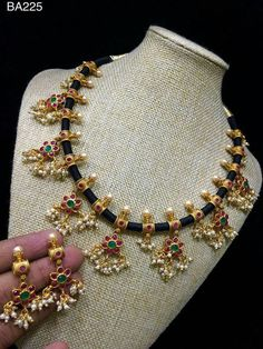 Order what's app 7995736811 Indian Wedding Jewelry, Indian Jewelry, Bridal Jewelry, Beaded Jewelry, Gold Jewelry, Jewelery, Thread Jewellery, Gold Necklaces, Jewelry Rings
