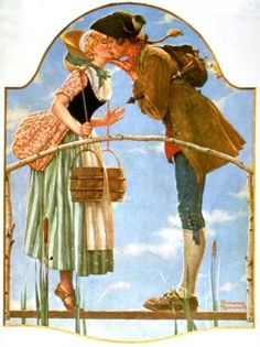 Artist: Norman Rockwell Style: Regionalism Genre: genre painting Tags: couples