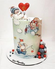 Baby Cakes, Baby Shower Cakes, Baby Shower Cake Designs, Cupcake Cakes, Baby Boy Birthday Cake, Animal Birthday Cakes, Little Boy Cakes, Cakes For Boys, Russian Cakes