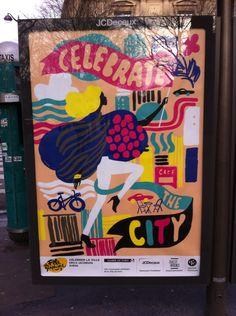 Poster, Paris celebrate the city