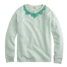 J. Crew Bib Necklace Sweatshirt, $98