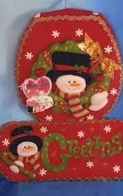 Resultado de imagen para moldes juegos de baño navidad Winter Christmas, Christmas Holidays, Christmas Ornaments, Unique Christmas Decorations, Holiday Decor, Christmas Bathroom Sets, Decor Crafts, Diy Crafts, 242