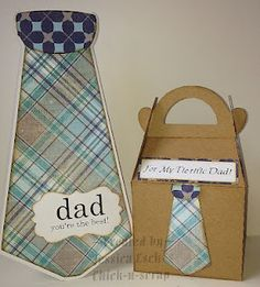 For My Tie~riffic Dad sentiment set and Shirt and Tie Cutting File~~~ The Cutting Cafe DT project