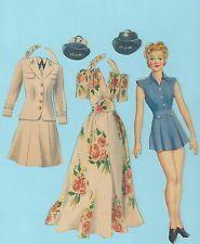 Vintage Paper Doll & Outfits - Lt. J.W.